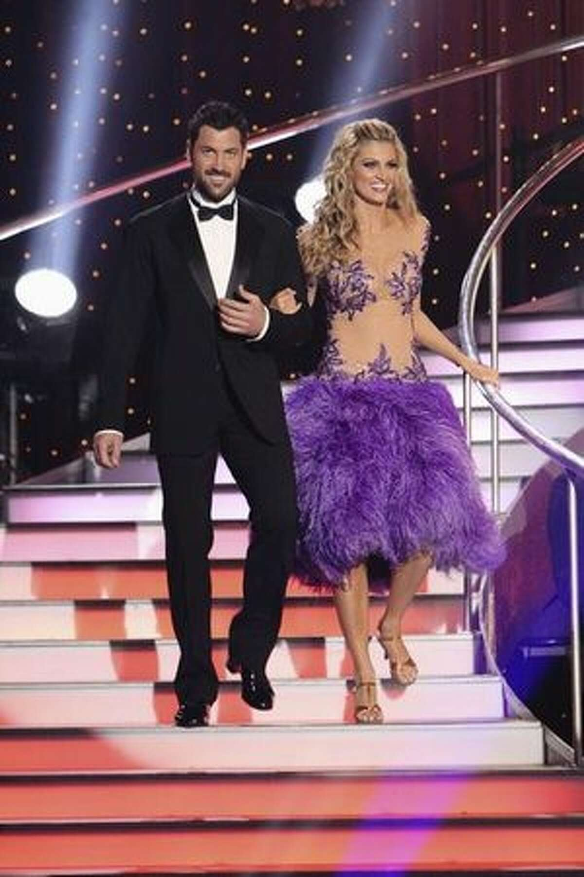Introductions are in order. Here's sportscaster Erin Andrews and her professional dance partner, Maksim Chmerkovskiy.