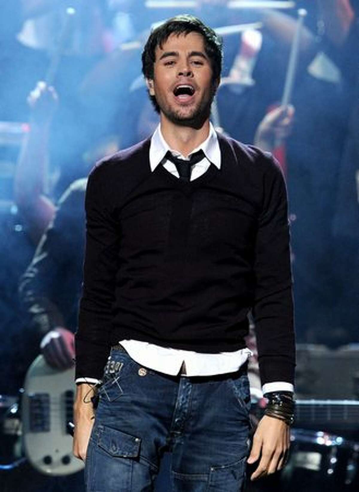 Singer Enrique Iglesias performs onstage during the 11th annual Latin GRAMMY Awards at the Mandalay Bay Events Center in Las Vegas, Nevada.