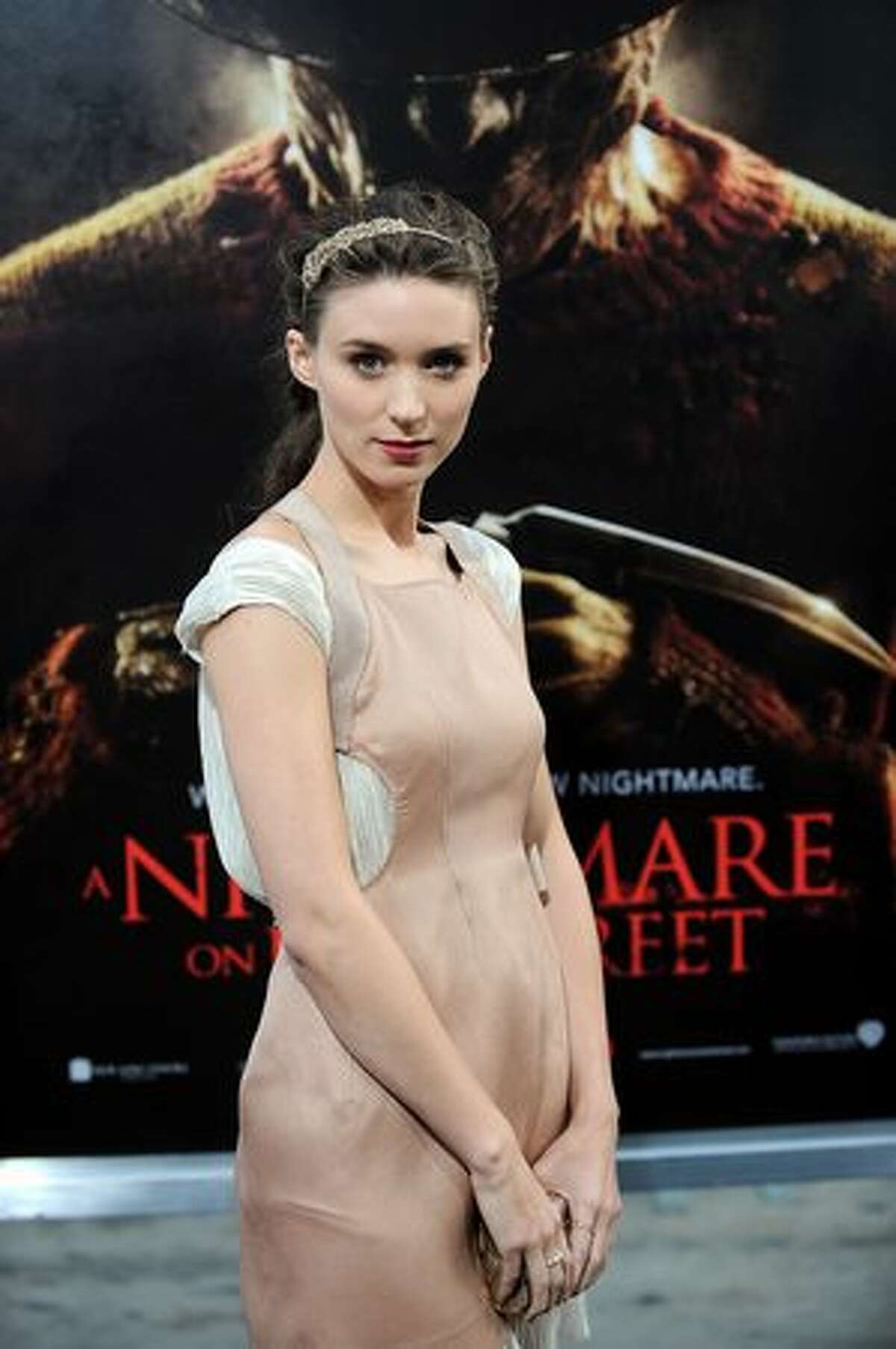 """Actress Rooney Mara arrives at the World premiere of """"A Nightmare on Elm Street"""" in Hollywood, California, on April 27. Photo credit GABRIEL BOUYS/AFP/Getty Images"""