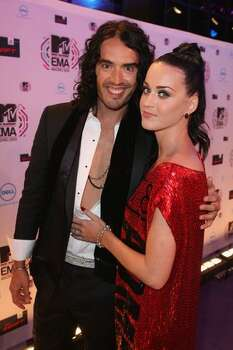 Katy Perry and Russell Brand arrive. Photo: Getty Images