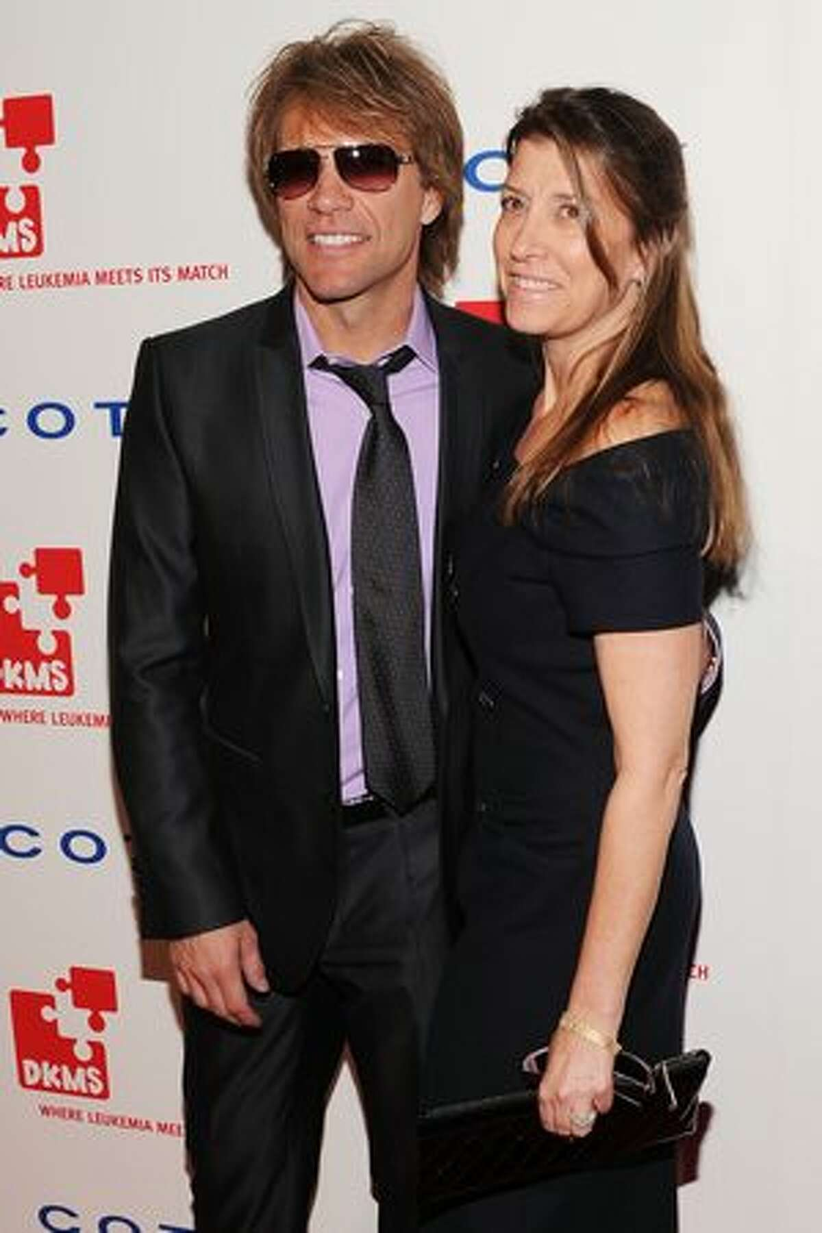 Musician Jon Bon Jovi and Dorothea Bon Jovi attend DKMS' 4th Annual Gala: Linked Against Leukemia at Cipriani 42nd Street on April 29, 2010 in New York City.