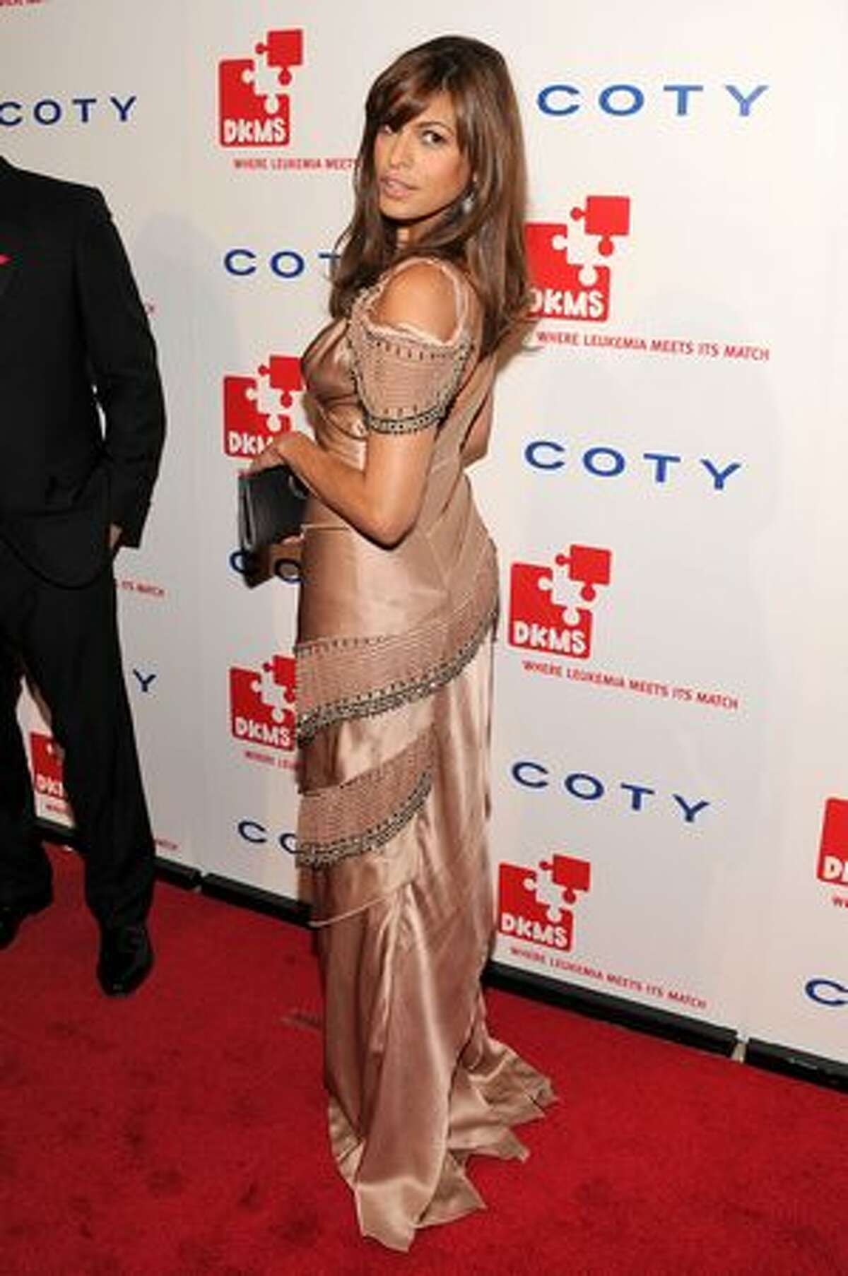 Actress Eva Mendes attends DKMS' 4th Annual Gala: Linked Against Leukemia at Cipriani 42nd Street on April 29, 2010 in New York City.