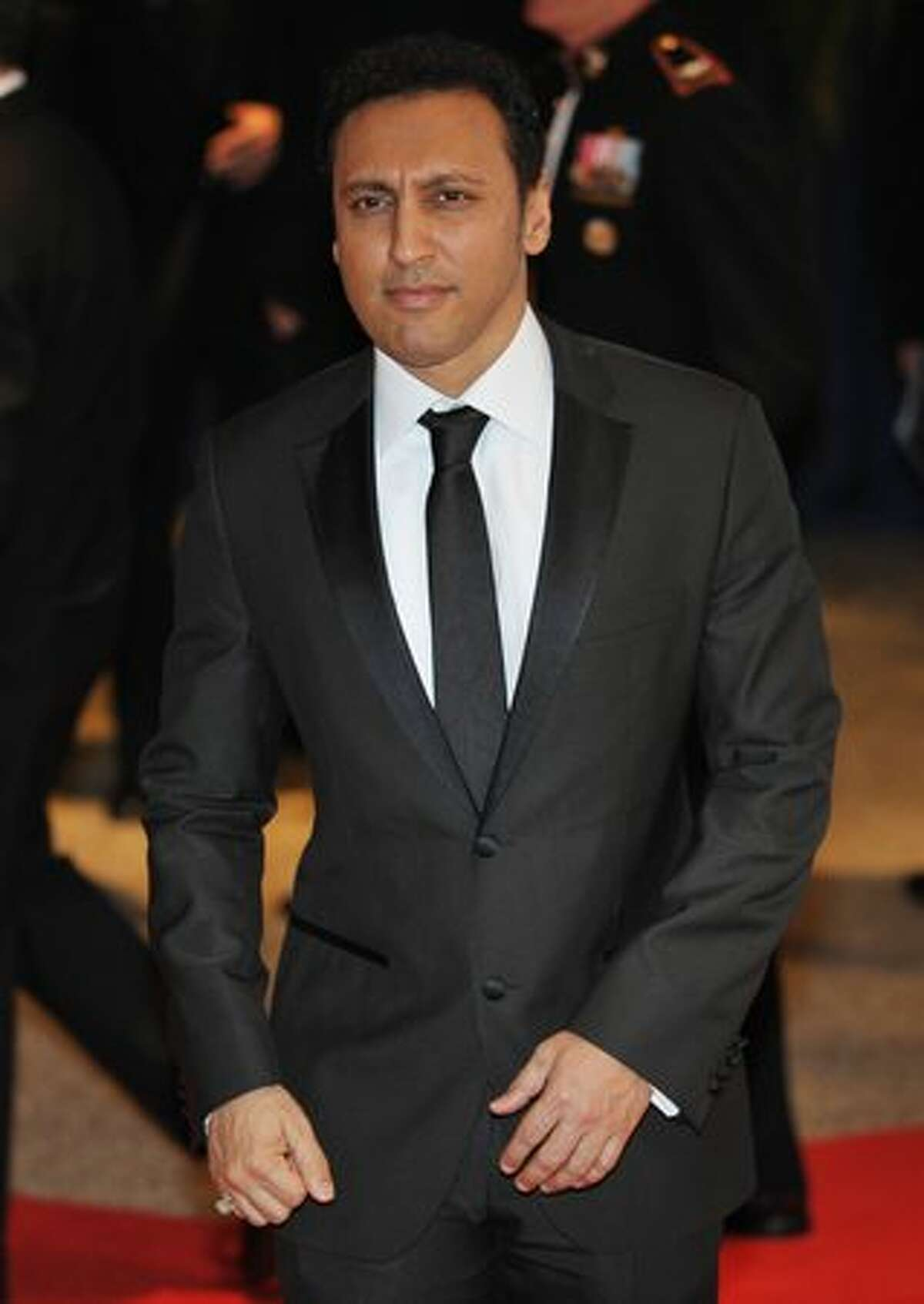 Daily Show correspondent Aasif Mandvi arrives for the 2010 White House Correspondents Dinner May 1, 2010 at a hotel in Washington, D..C.