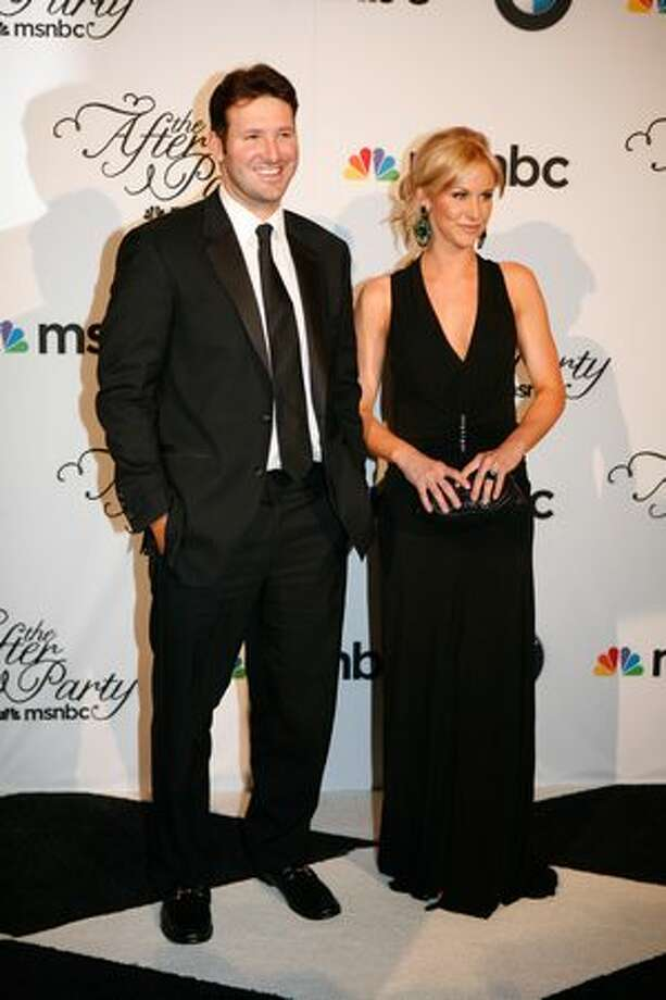 Dallas Cowboys quarterback Tony Romo and his girlfriend Candice Crawford arrive at the MSNBC afterparty following the White House Correspondents' Association dinner on May 1, 2010 in Washington, D.C. The annual dinner featured comedian Jay Leno and was attended by President Barack Obama and First Lady Michelle Obama. Photo: Getty Images