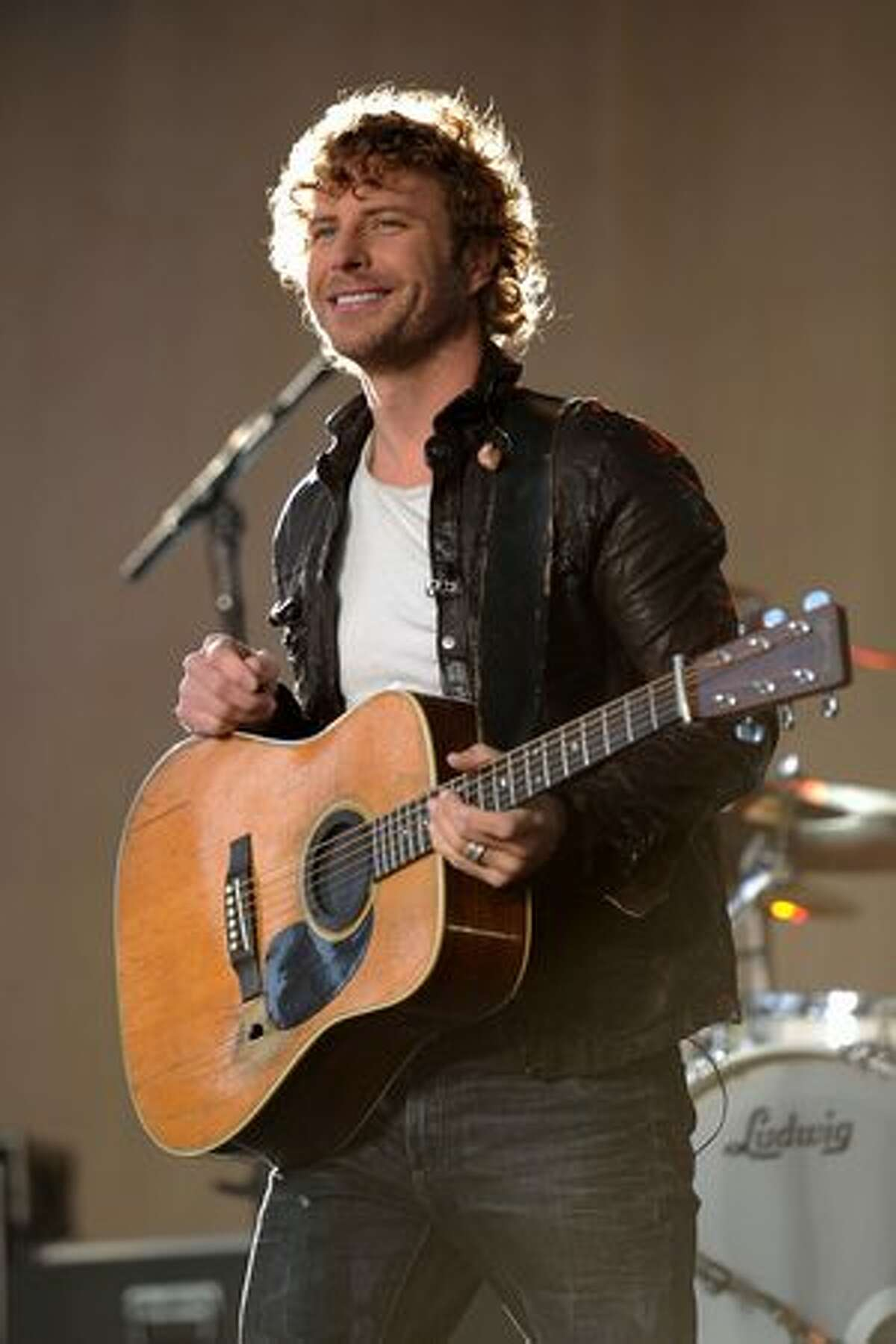 Musician Dierks Bentley performs on ABC's Good Morning America at Bridgestone Arena on Wednesday in Nashville, Tennessee.