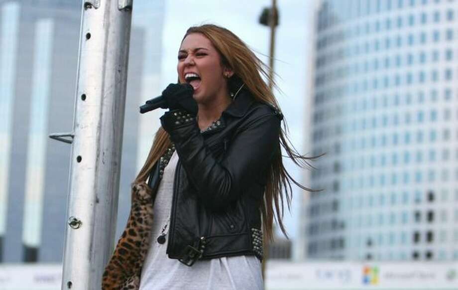 Pop singer and actress Miley Cyrus performs. Photo: Joshua Trujillo, Seattlepi.com