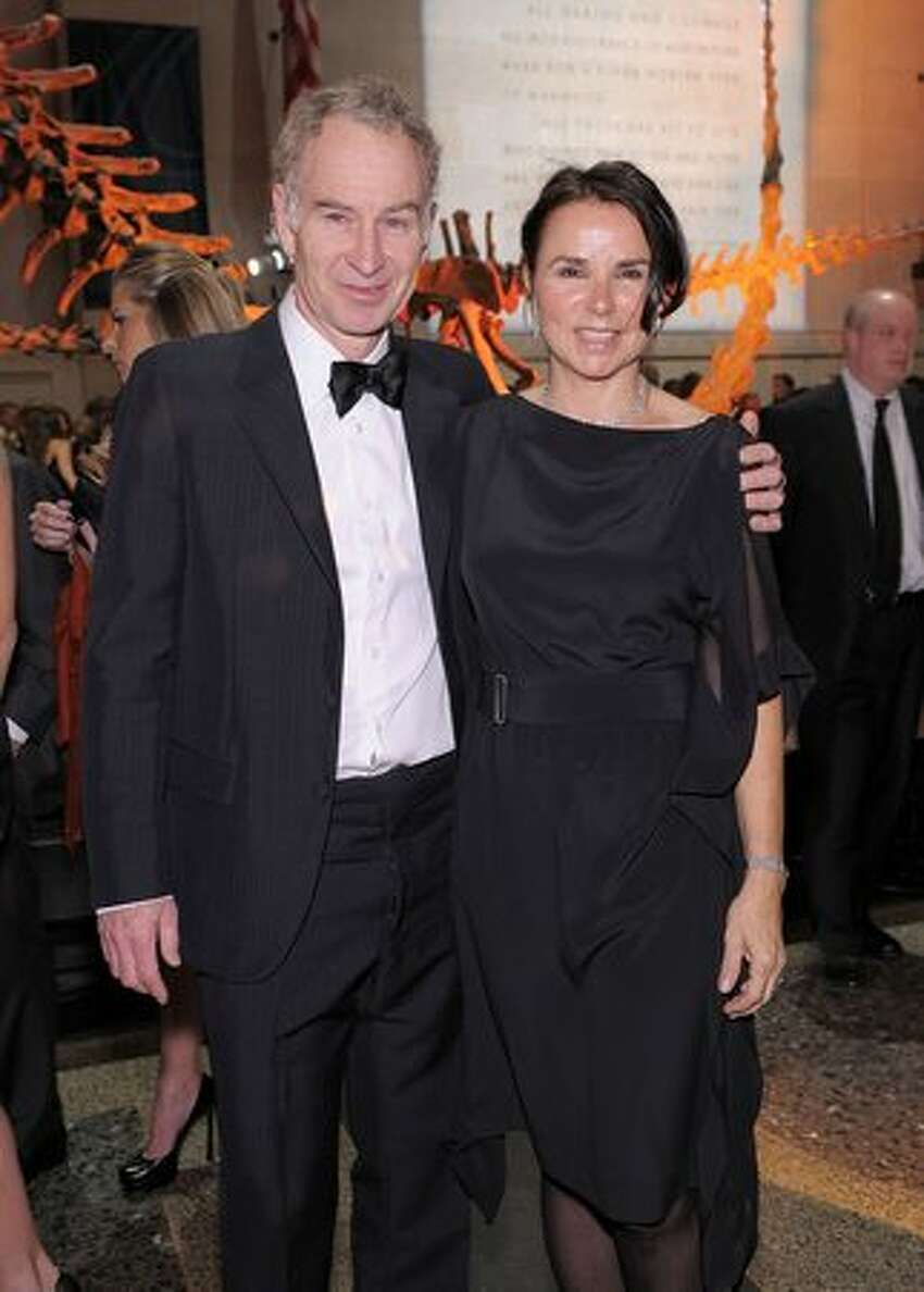 Former professional tennis player John McEnroe and his wife, musician Patty Smyth, attend the American Museum of Natural History's 2010 Museum Gala at the American Museum of Natural History in New York City.
