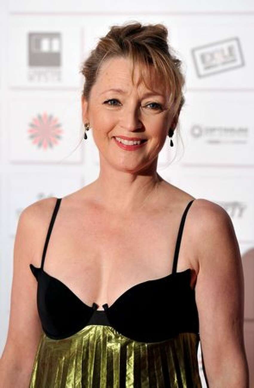 Best Supporting Actress Nominee Lesley Manville attends the Moet British Independent Film Awards at Old Billingsgate Market in London, England.