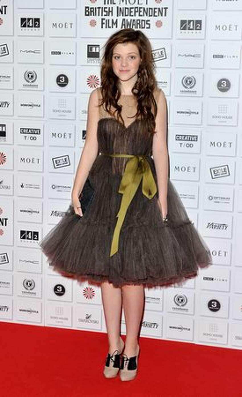 Actress Georgie Henley attends the Moet British Independent Film Awards at Old Billingsgate Market in London, England.