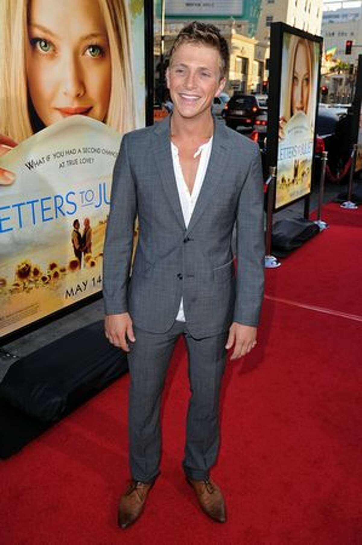 Actor Charlie Bewley arrives at the premiere of Summit Entertainment's