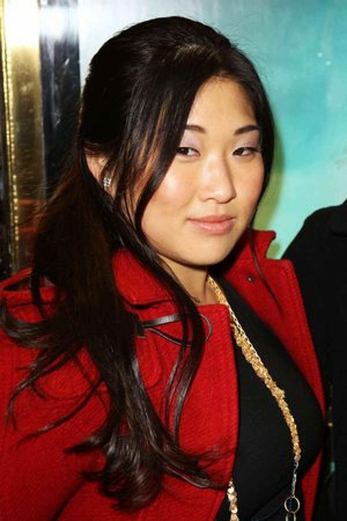 Jenna Ushkowitz attends the UK premiere of Tron: Legacy held at The Empire Leicester Square in London, England.