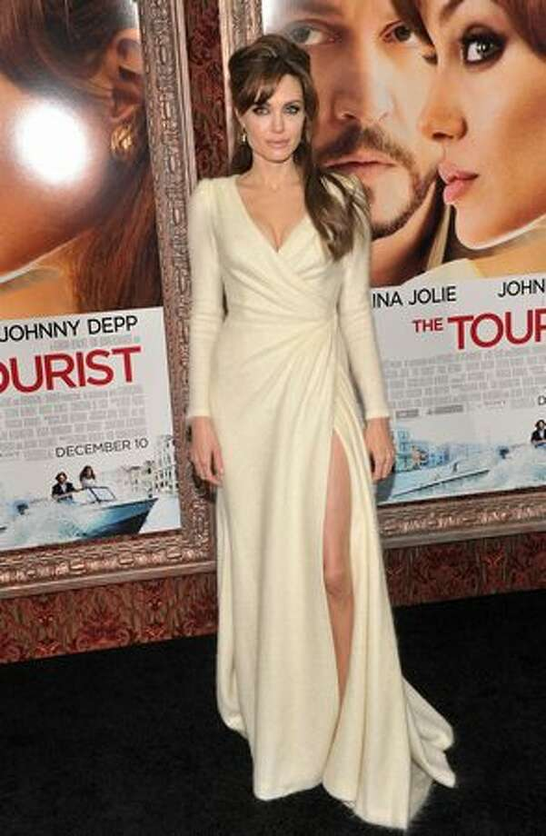 "Actress Angelina Jolie attends the World premiere of ""The Tourist"" at Ziegfeld Theatre in New York, New York. Photo: Getty Images"