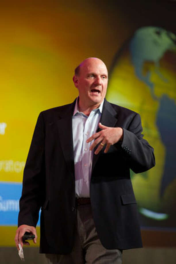 Microsoft CEO Steve Ballmer addresses global business leaders at the Microsoft CEO Summit 2010 on Wednesday, May 19, in Redmond. Photo: Microsoft / Copyright © 2010 Gary R. Voth for Gary Voth Photography. All rights reserved.