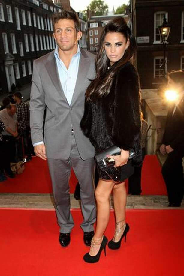 Alex Reid and Katie Price arrive at the Keep A Child Alive Black Ball held at St John's, Smith Square on Thursday, May 27 in London, England. Photo: Getty Images