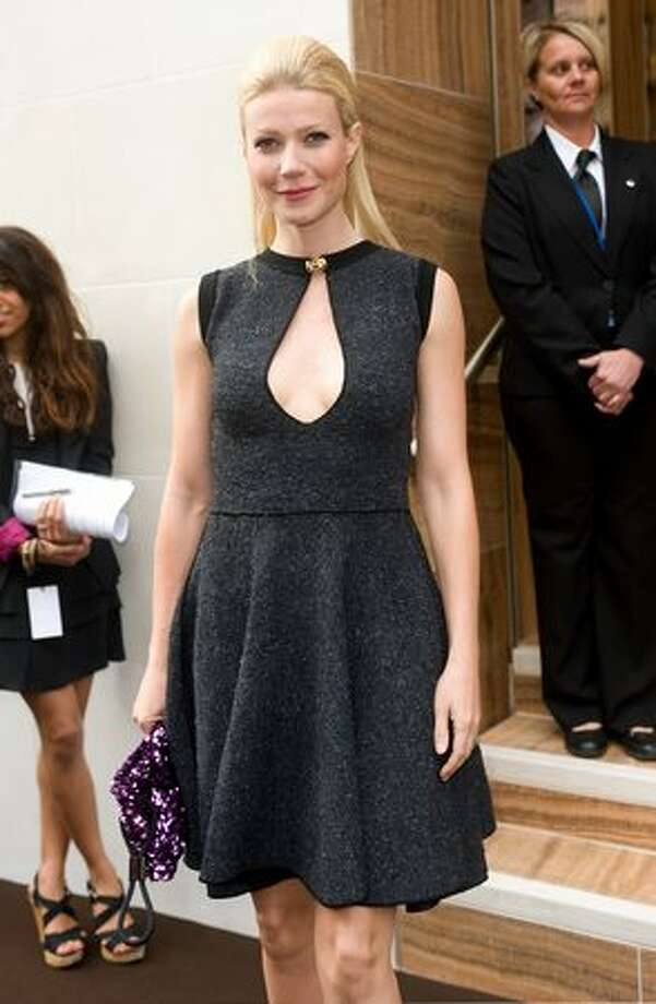 Gwyneth Paltrow arrives at the Louis Vuitton Bond Street Maison launch on New Bond Street. Photo: Getty Images