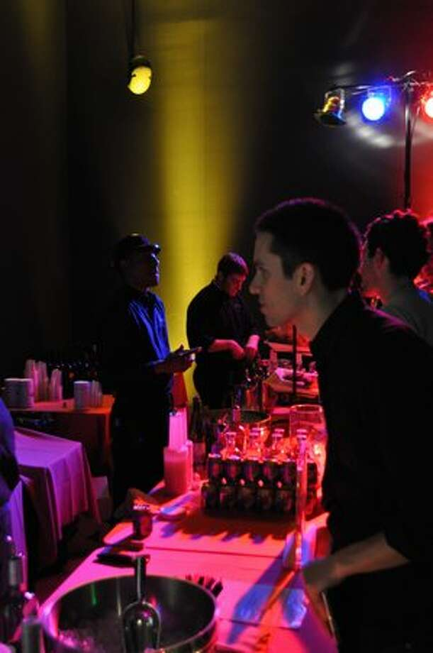 The bar at the SAM Remix Andy Warhol event Saturday. (Kelly Hendrickson/UW News Lab)