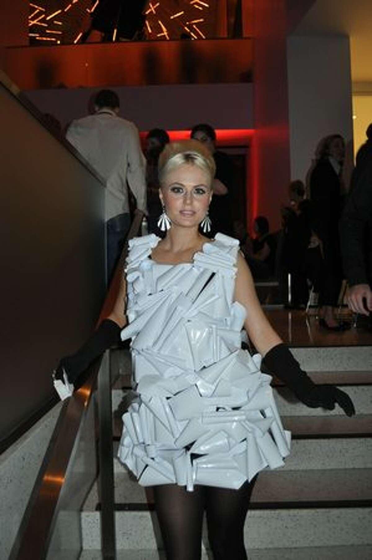 A model at the SAM Remix Andy Warhol event Saturday. (Kelly Hendrickson/UW News Lab)