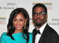 Chris Rock and his wife, Malaak, arrive for the formal artist's dinner for the Kennedy Center Honors in Washington, D.C.