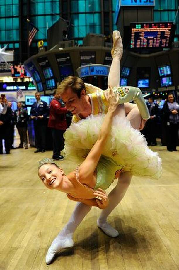 "Dancers from the New York City Ballet's ""The Nutcracker"" visit The New York Stock Exchange on Dec. 23, 2010 in New York City. Photo: Getty Images"
