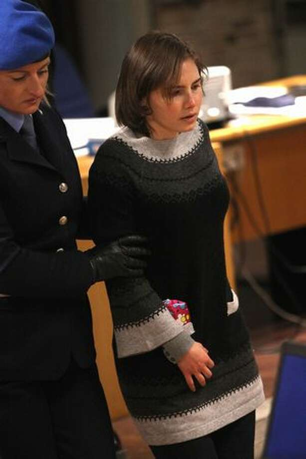 Amanda Knox arrives in court. Photo: Getty Images