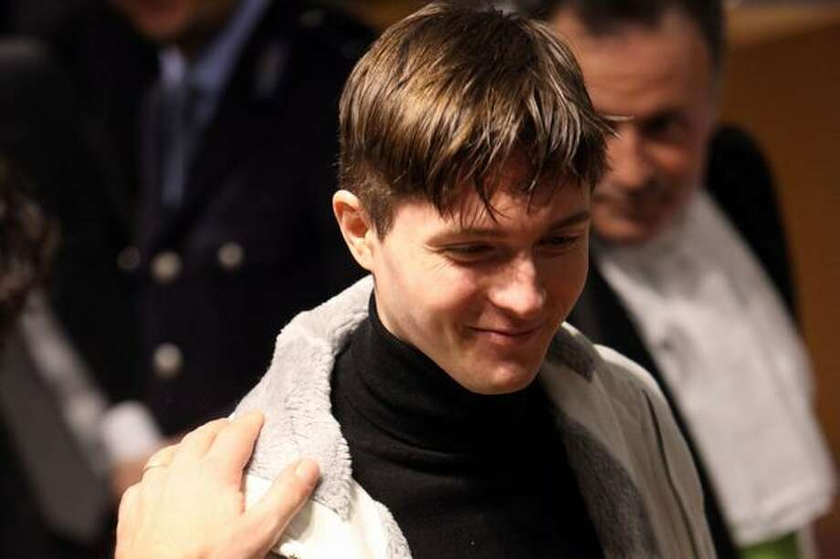 Raffaele Sollecito attends the appeal hearing. Photo: Getty Images
