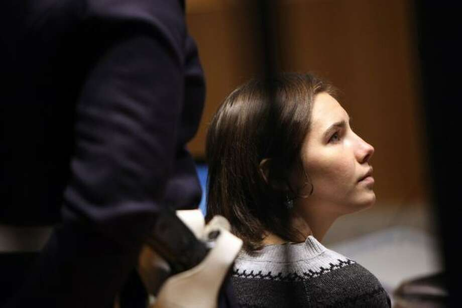 Amanda Knox sits in court. Photo: Getty Images