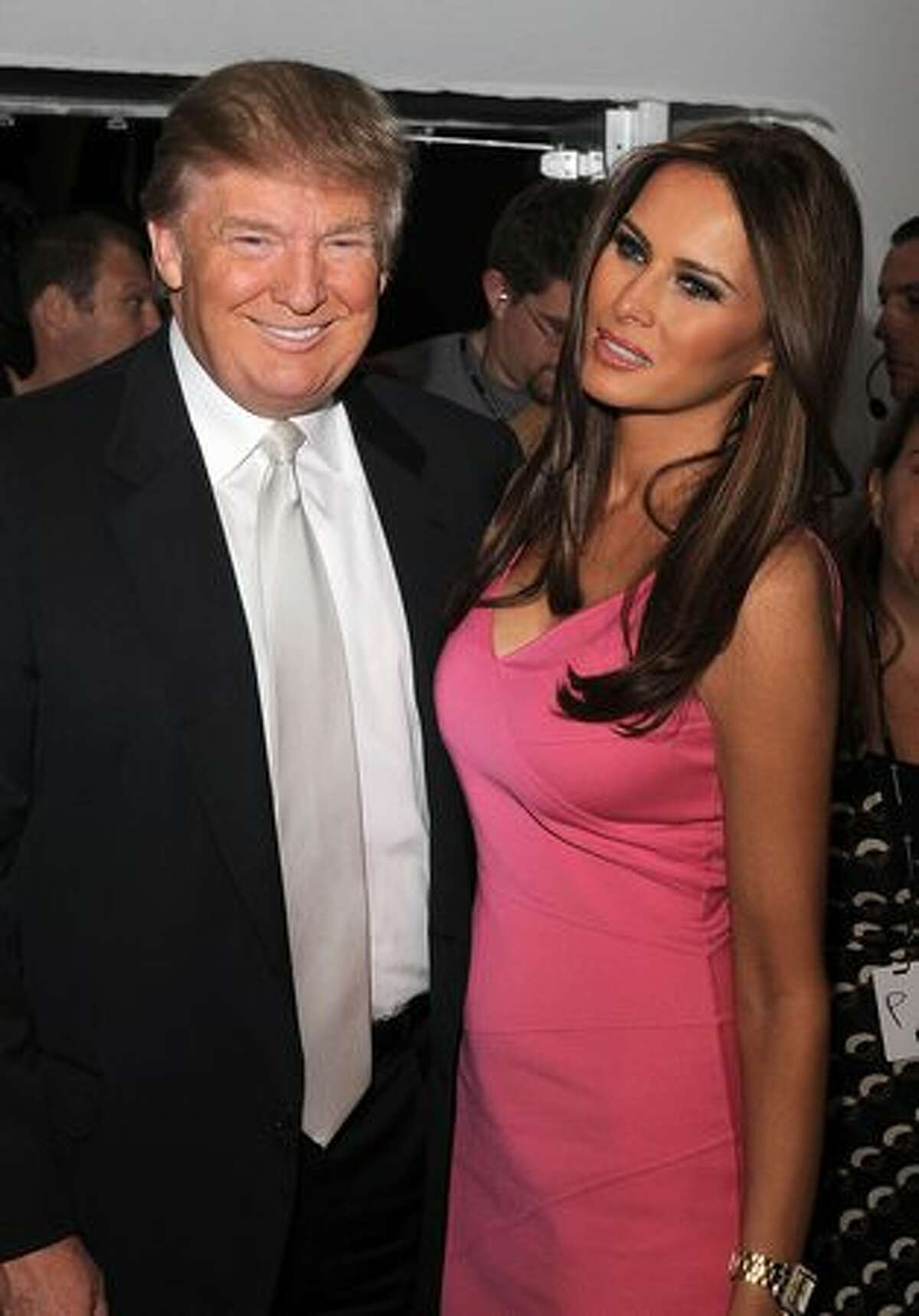 Donald Trump, 54, and wife Melania Trump, a 30-year-old model, are seen around Lincoln Center during Mercedes-Benz Fashion Week on September 15, 2010 in New York City.