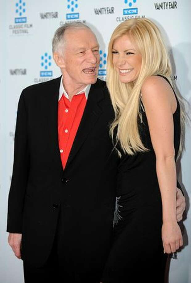 The most famous geezer-babe couple is, of course, Playboy magnate Hugh Hefner, 84, and playmate Crystal Harris, 24. The coupled announced their engagement this month. They're pictured here at a movie premiere in Hollywood on Apr. 22, 2010. Photo: Getty Images