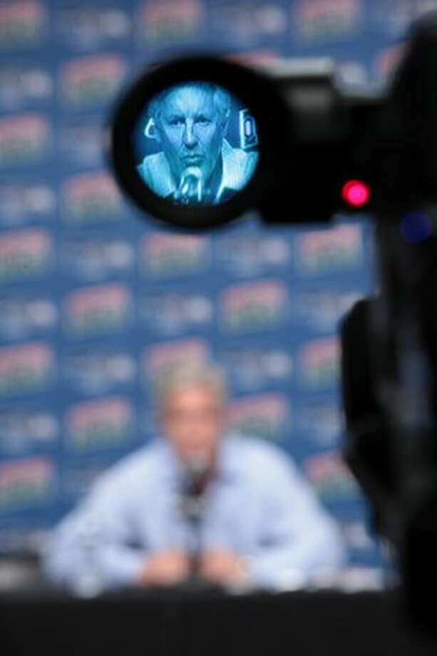 Seattle Seahawks Head Coach Pete Carroll speaks to the media before introducing draft picks Russell Okung from Oklahoma State and Earl Thomas from University of Texas at the Virginia Mason Athletic Center in Renton. Photo: Joshua Trujillo, Seattlepi.com
