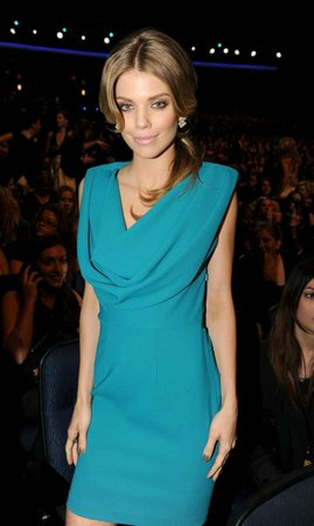 Actress AnnaLynne McCord is seen in the auditorium.
