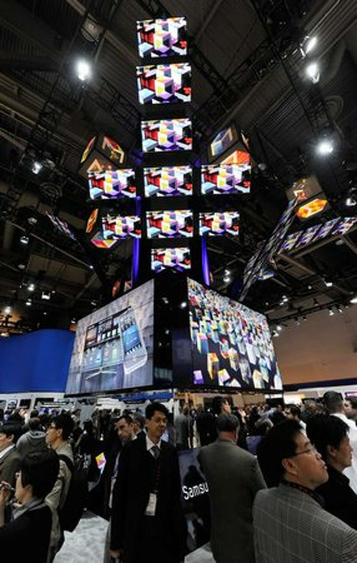 A general view of the Samsung booth Jan. 6 at the 2011 International Consumer Electronics Show in Las Vegas.