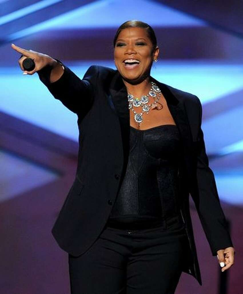 Host Queen Latifah speaks onstage during the 2011 People's Choice Awards at Nokia Theatre L.A. Live in Los Angeles, California.