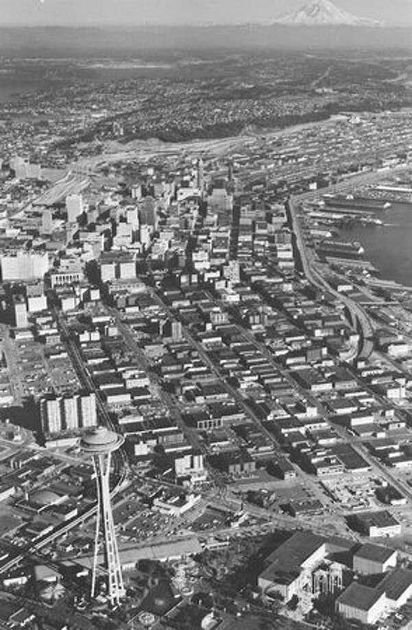 A view of Seattle in 1968, according to notes on the back of the photo. Photo: P-I File