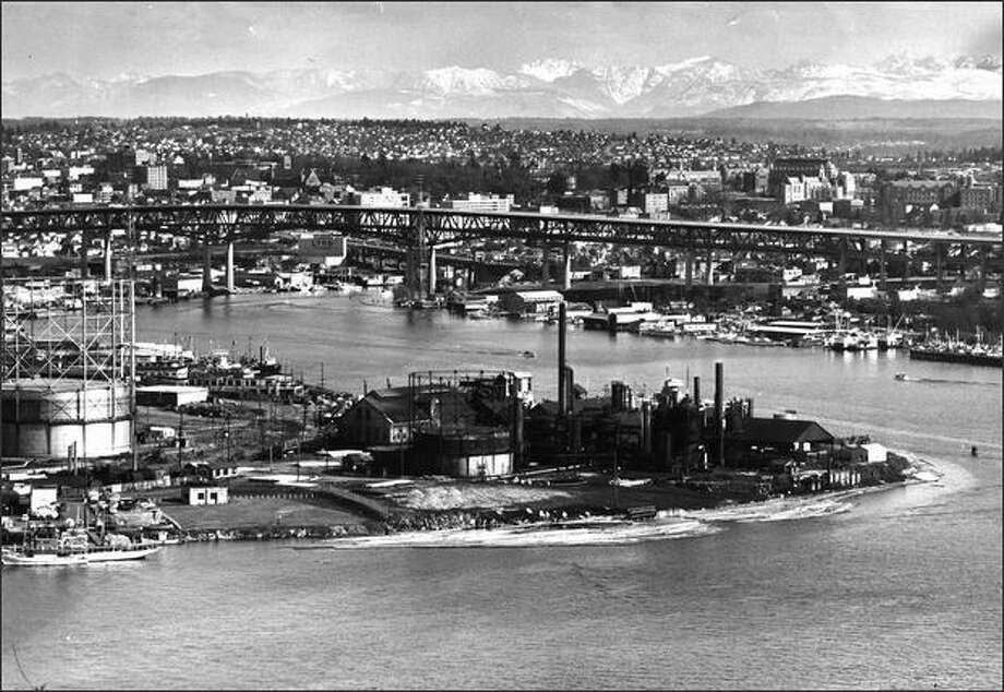 Gas Works Park in 1962. Photo: P-I File