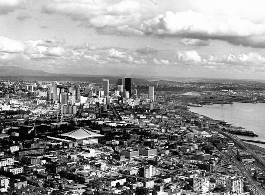 Downtown Seattle in 1977. (Grant M. Haller/P-I) Photo: P-I File