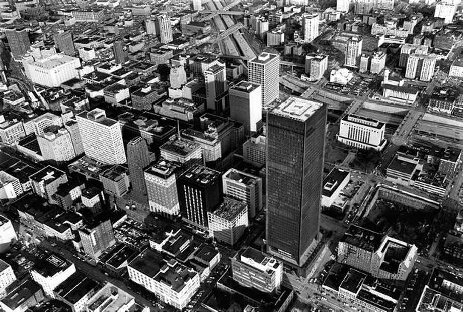 Part of downtown Seattle in 1972. Photo: P-I File