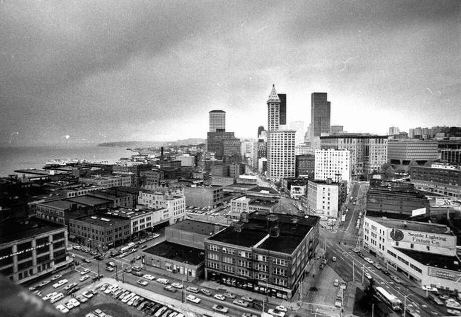 Downtown Seattle in 1975. (Grant M. Haller/P-I) Photo: P-I File
