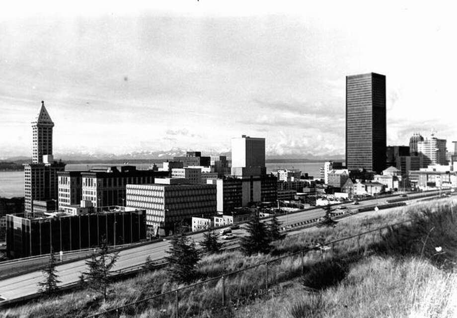 A photo of Seattle in 1972 with the Smith Tower in the left corner. (Bob Miller/Seattle-PI) Photo: P-I File