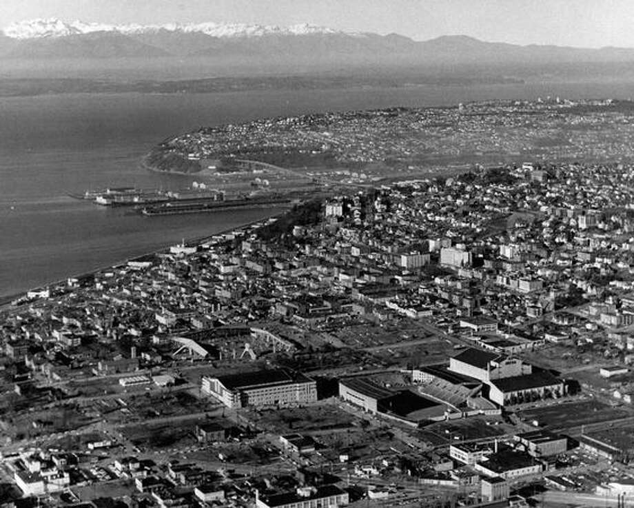 A photo of downtown Seattle taken in 1962. Photo: P-I File