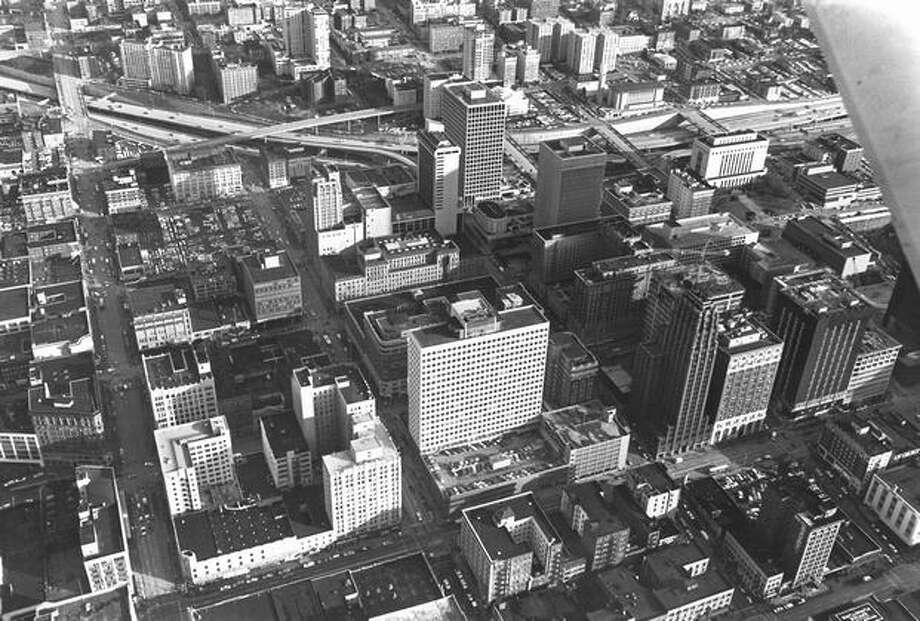 A photo of downtown Seattle taken in 1972. (Paul V. Thomas/P-I) Photo: P-I File