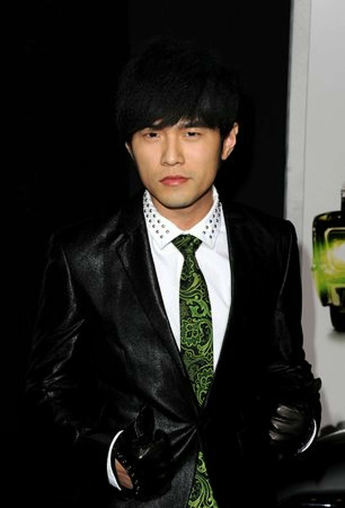 Actor Jay Chou arrives at Columbia Pictures'
