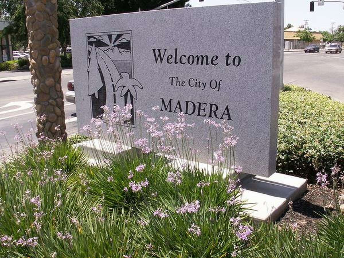 No. 3: Madera, Calif. Here, a sign welcoming visitors to Madera is seen on May 30, 2006 (ideas1/Wikimedia Commons)