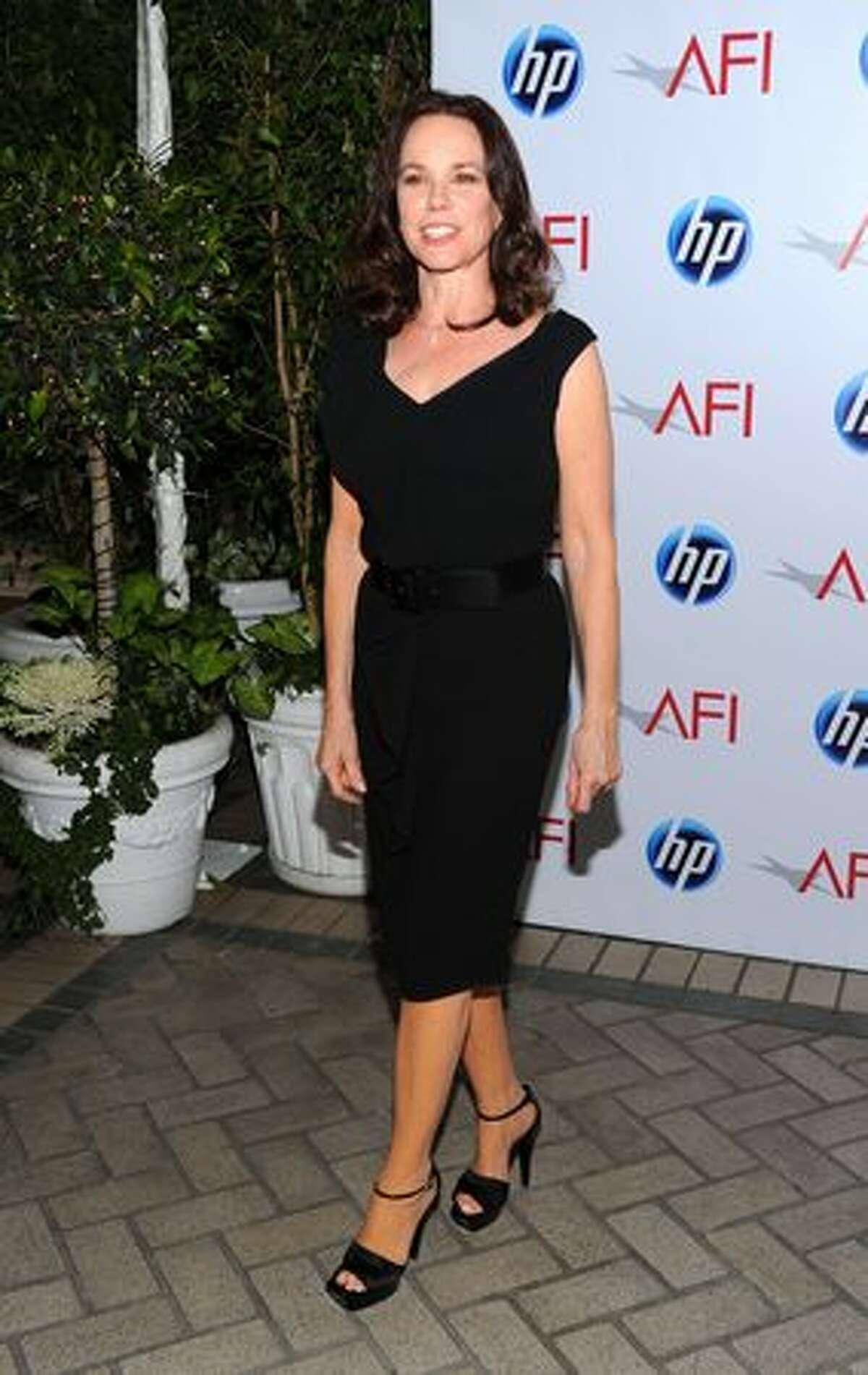 Actress Barbara Hershey attends.