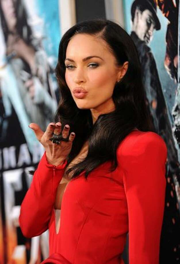 "Actress Megan Fox arrives at premiere of Warner Bros. ""Jonah Hex"" held at ArcLight Cinema's Cinerama Dome in Hollywood, California. Photo: Getty Images"