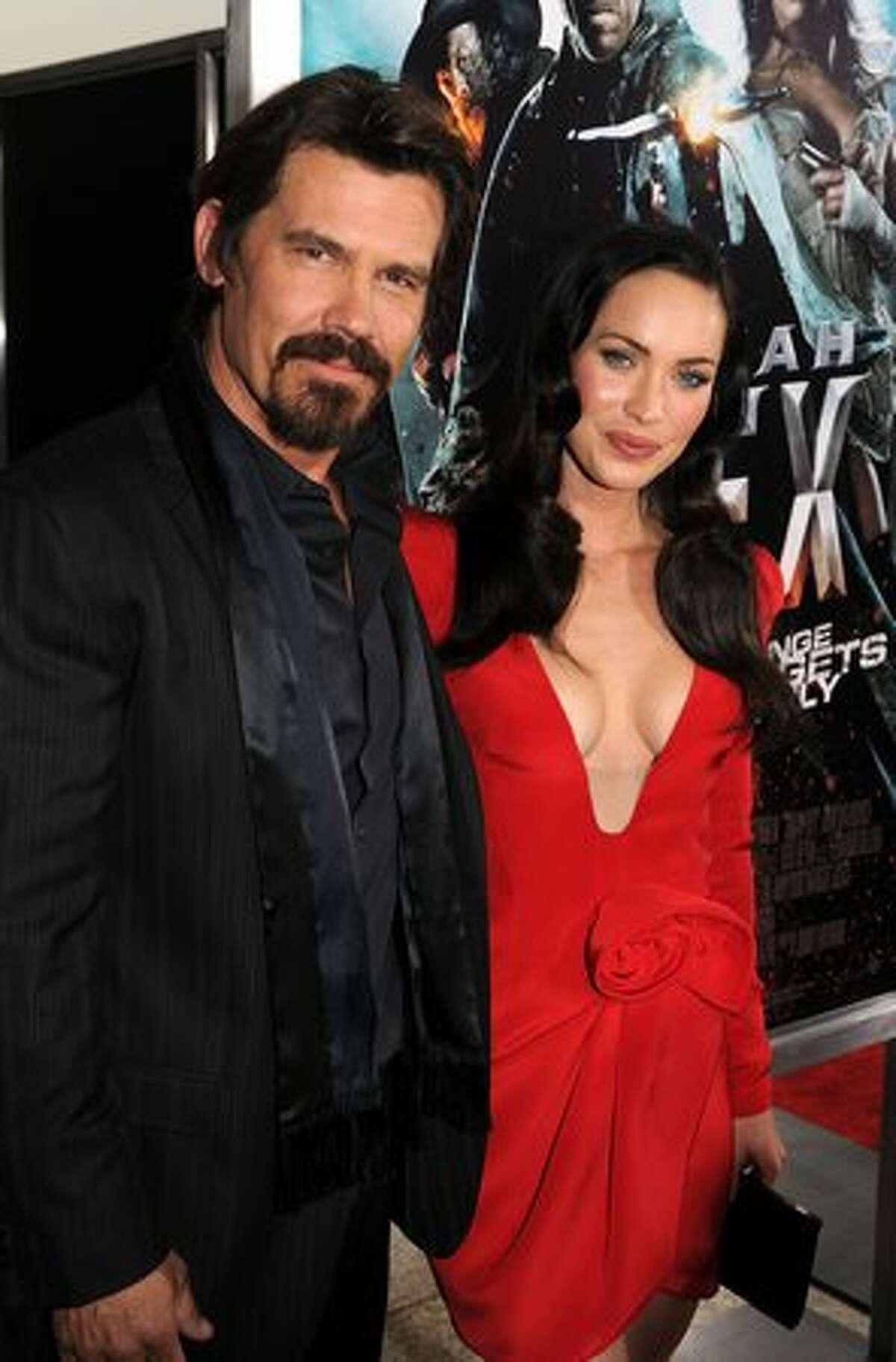 Actors Josh Brolin and Megan Fox arrive at premiere of Warner Bros.
