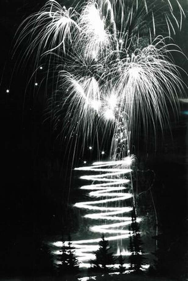 The 1979 fireworks show over Elliott Bay in Seattle. Photo: P-I File