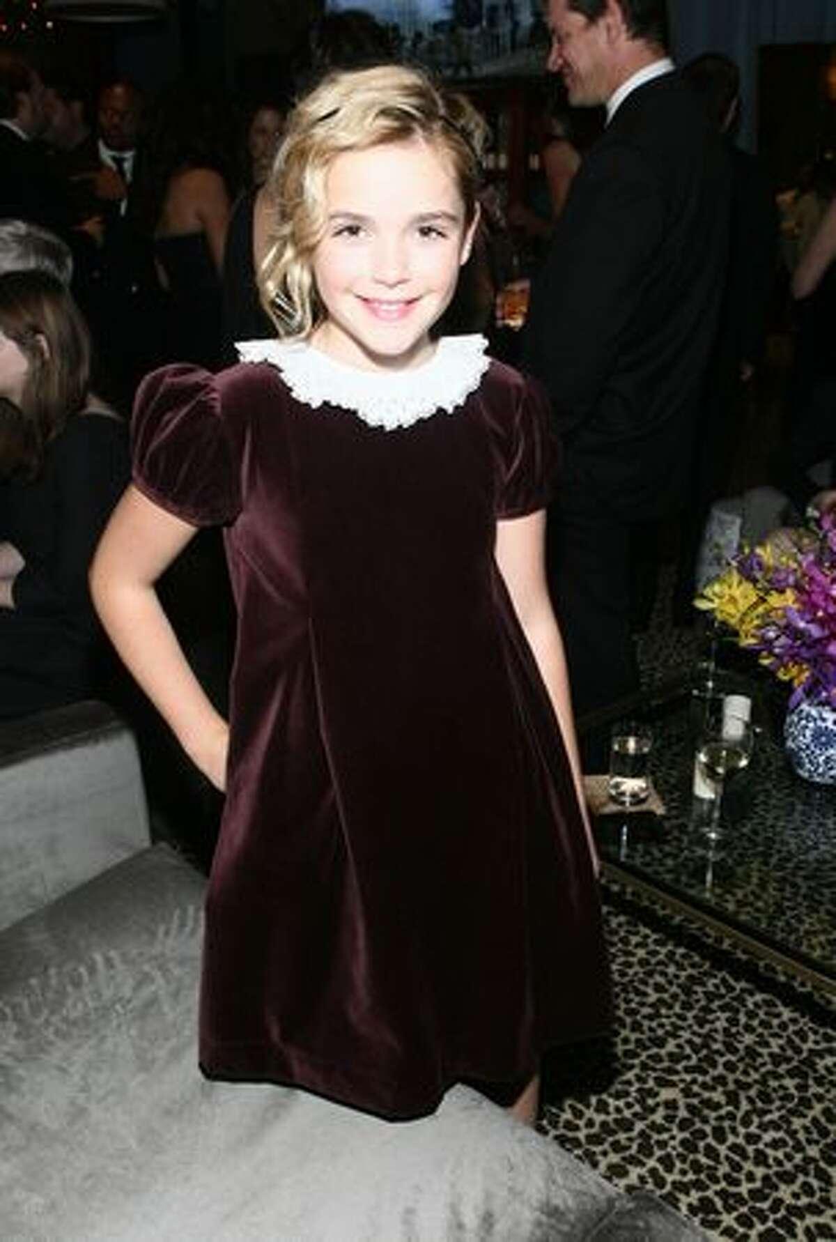 Actress Kiernan Shipka attends AMC's 2011 Golden Globe Awards Party.
