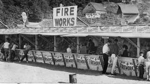 A Mercer Island firework stand on June 28, 1961.