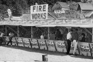 A Mercer Island firework stand on June 28, 1961.
