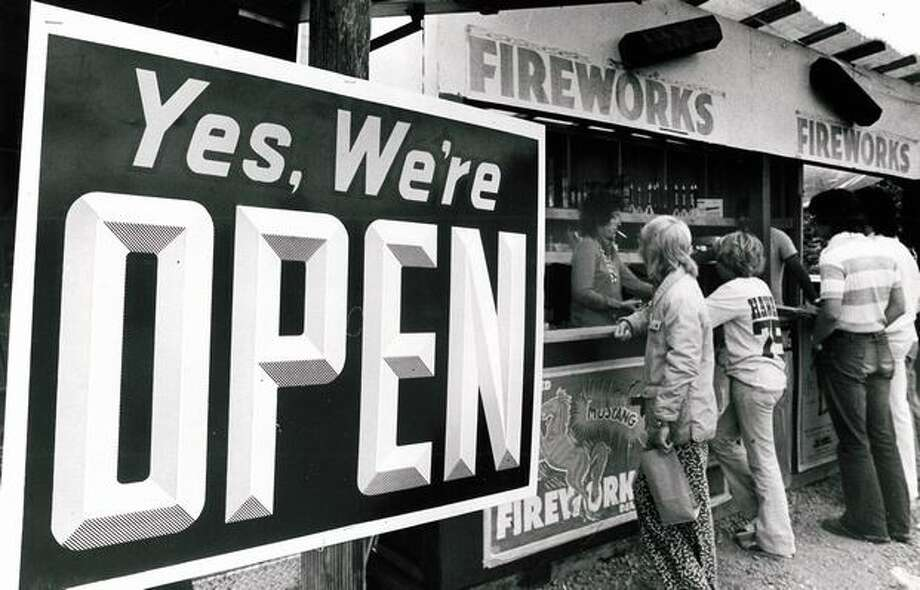 A King County fireworks stand, June 29, 1975. Photo: P-I File